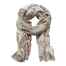 Buy Betty Barclay Long Multi Print Scarf, Taupe/Cream Online at johnlewis.com