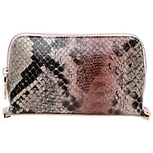 Buy Ted Baker Juro Makeup Bag, Mink/Multi Online at johnlewis.com