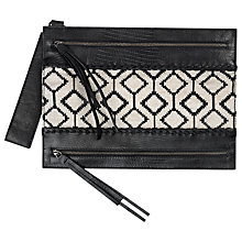 Buy Et DAY Birger et Mikkelsen Mix Clutch, Black Online at johnlewis.com