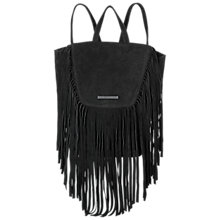 Buy Et DAY Birger et Mikkelsen Soft Fringe Backpack, Black Online at johnlewis.com