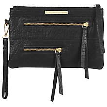 Buy Et DAY Birger et Mikkelsen Utility Leather Clutch Bag, Black Online at johnlewis.com