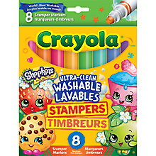 Buy Crayola Shopkins Stamper Markers, Pack of 8 Online at johnlewis.com
