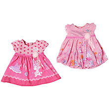 Buy Zapf Baby Born Dress, Assorted Online at johnlewis.com