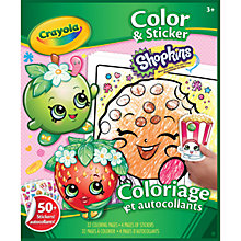 Buy Crayola Shopkins Sticker Book Online at johnlewis.com