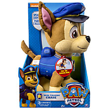Buy Paw Patrol Chase Talking Plush Toy Online at johnlewis.com