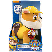 Buy Paw Patrol Rubble Talking Plush Toy Online at johnlewis.com