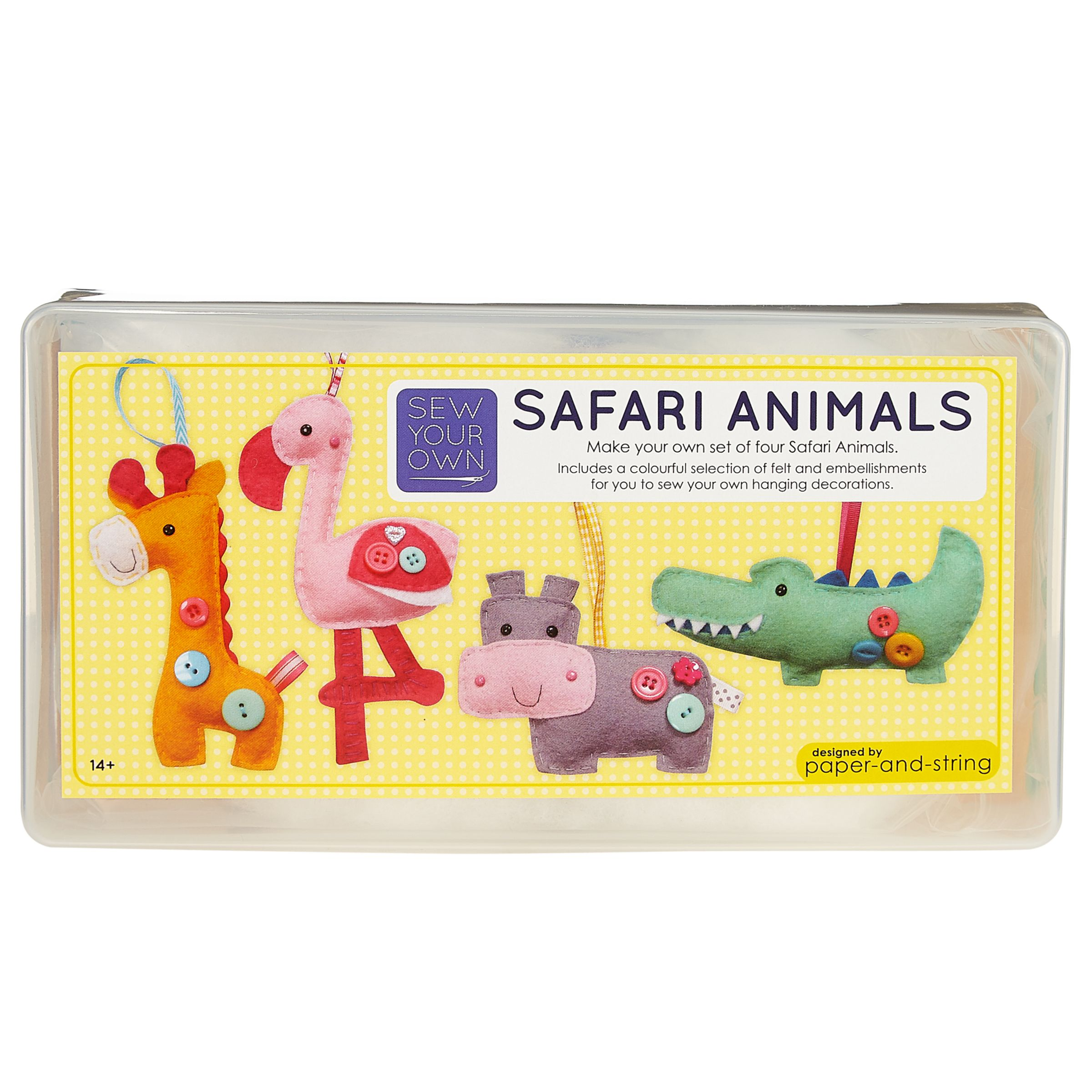 Paper and String Paper and String Sew Your Own Safari Animals Kit