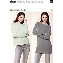Buy Rico Essential Merino DK Women's Jumpers Knitting Pattern, 183 Online at johnlewis.com