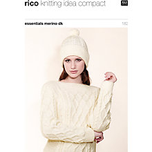 Buy Rico Essential Merino DK Women's Hat and Jumper Knitting Pattern, 182 Online at johnlewis.com