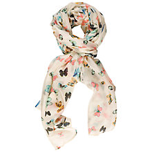 Buy Chesca Butterfly Print Silk Scarf, Multi Online at johnlewis.com