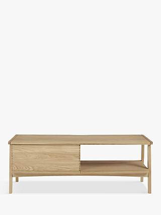 "John Lewis & Partners Duhrer TV Stand for TVs up to 60"", Oak"