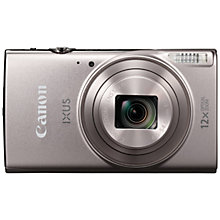 "Buy Canon IXUS 285 HS Digital Camera, Full HD 1080p, 20.2MP, 12x Optical Zoom, 24x Zoom Plus, Wi-Fi, NFC, 3"" LCD Screen with Wrist Strap Online at johnlewis.com"