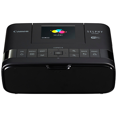 """Image of Canon SELPHY CP1200 Portable Photo Printer With Wi-Fi, Apple AirPlay & 2.7"""" Tiltable Display"""