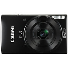 "Buy Canon IXUS 182 Digital Camera Kit, HD 720p, 20MP, 10x Optical Zoom, 20x Zoom Plus, Wi-Fi, NFC, 2.7"" LCD Screen with Leather Soft Case & 8GB SD Card Online at johnlewis.com"