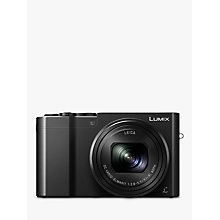"Buy Panasonic LUMIX DMC-TZ100EB Digital Camera, 4K Ultra HD, 20.1MP, 10x Optical Zoom, Wi-Fi, 3"" LCD Touch Screen & Post-Focus Online at johnlewis.com"