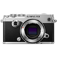 "Buy Olympus Pen F Compact System Camera, HD 1080p, 20.3MP, Wi-Fi, Front Creative Dial, 5-Axis IS, 3"" Vari-Angle Touch Monitor, Body Only Online at johnlewis.com"