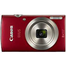 "Buy Canon IXUS 175 Digital Camera, HD 720p, 20MP, 8x Optical Zoom, 16x Zoom Plus, 2.7"" LCD Screen with Wrist Strap Online at johnlewis.com"