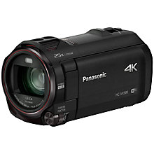 "Buy Panasonic HC-VX980EBK 4K Ultra HD Camcorder, 8.29MP, 20x Optical Zoom, Level Shot, Wi-Fi & 3"" Touch Screen, Black Online at johnlewis.com"