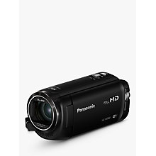 "Buy Panasonic HC-W580EB-K Camcorder, Wi-Fi, HD 1080p, High Dynamic Range 2.5MP Movie/10MP Still, 50x Optical Zoom, 90x Intelligent Zoom, 2.7"" Wide LCD Touch Monitor Online at johnlewis.com"