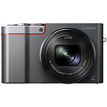 Buy Panasonic LUMIX DMC-TZ100EB Digital Camera, Silver plus Get a free Panasonic PU Leather Camera Case, Black and SanDisk 64GB SD Memory Card Online at johnlewis.com