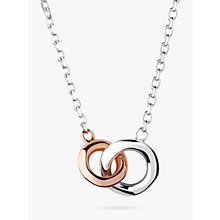 Buy Links of London 20/20 Sterling Silver and 18ct Rose Gold Mini Necklace, Silver/Rose Gold Online at johnlewis.com