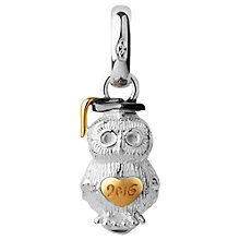 Buy Links of London Sterling Silver and 18ct Yellow Gold Vermeil 2016 Graduation Owl Charm, Silver/Gold Online at johnlewis.com