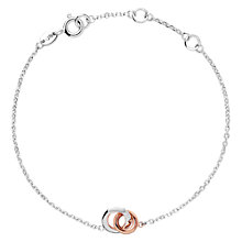 Buy Links of London 20/20 Sterling Silver and 18ct Rose Gold Mini Bracelet, Silver/Rose Gold Online at johnlewis.com