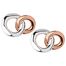 Buy Links of London 20/20 Sterling Silver and 18ct Rose Gold Stud Earrings, Silver/Rose Gold Online at johnlewis.com
