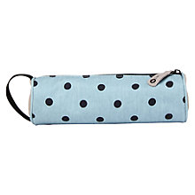 Buy Mi-Pac Denim Polka Dot Pencil Case, Blue Online at johnlewis.com