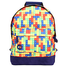 Buy Mi-Pac Building  Blocks Mini Backpack, Multi Online at johnlewis.com