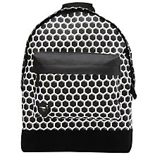 Buy Mi-Pac Honeycomb Backpack, Black/White Online at johnlewis.com