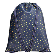 Buy Mi-Pac Hearts Kit Bag, Navy/Gold Online at johnlewis.com
