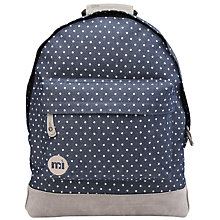 Buy Mi-Pac Denim Spot Backpack, Blue Online at johnlewis.com