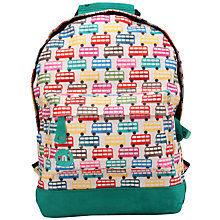 Buy Mi-Pac Mini Buses Print Backpack, Green/Multi Online at johnlewis.com