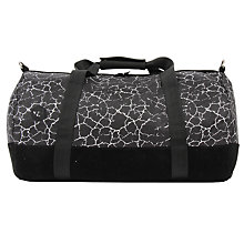 Buy Mi-Pac Cracked Print Duffle Bag, Black/Silver Online at johnlewis.com