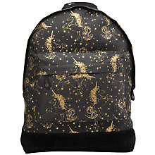 Buy Mi-Pac Unicorns Backpack, Black/Gold Online at johnlewis.com
