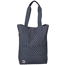 Buy Mi-Pac Spot Print Denim Tote Bag, Indigo/White Online at johnlewis.com