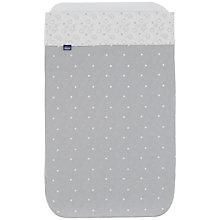 Buy Chicco Next To Me Circles Crib Sheet Set, Grey/White Online at johnlewis.com