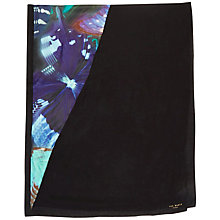 Buy Ted Baker Milae Butterfly Split Scarf, Black/Multi Online at johnlewis.com