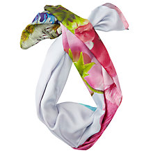 Buy Ted Baker Farrah Bouquet Silk Square Scarf, Pale Blue/Multi Online at johnlewis.com