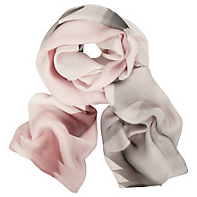 Buy Ted Baker Maita Porcelain Rose Long Silk Scarf, Nude/Smoke Online at johnlewis.com