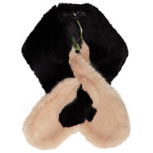 Buy Ted Baker Avril Colour Block Faux Fur Scarf Online at johnlewis.com