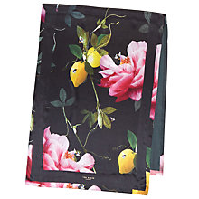 Buy Ted Baker Catari Citrus Bloom Long Silk Scarf, Black/Pink Online at johnlewis.com