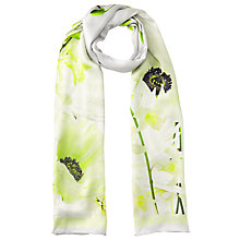 Buy Ted Baker Luisa Pearly Petal Silk Scarf, Ash/Yellow Online at johnlewis.com