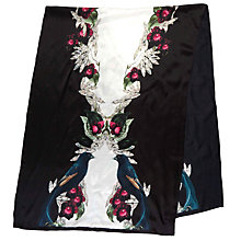 Buy Ted Baker Breiden Bejewelled Long Silk Scarf, Black/Multi Online at johnlewis.com