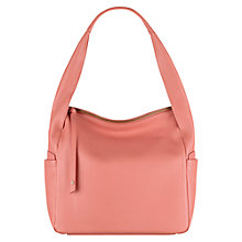 Buy Radley Brockley Medium Leather Zip Top Grab Bag, Orange Online at johnlewis.com