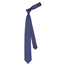 Buy HUGO by Hugo Boss Diamond Woven Silk Tie, Navy Online at johnlewis.com