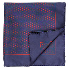 Buy HUGO by Hugo Boss Cross Print Silk Pocket Square Online at johnlewis.com