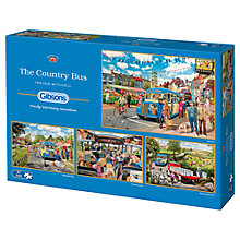 Buy Gibsons The Country Bus Jigsaw Puzzle, 4 x 500 Pieces Online at johnlewis.com
