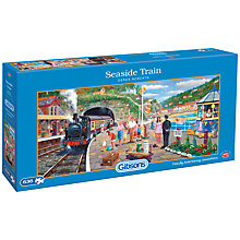 Buy Gibsons Seaside Train Jigsaw Puzzle, 636 Pieces Online at johnlewis.com